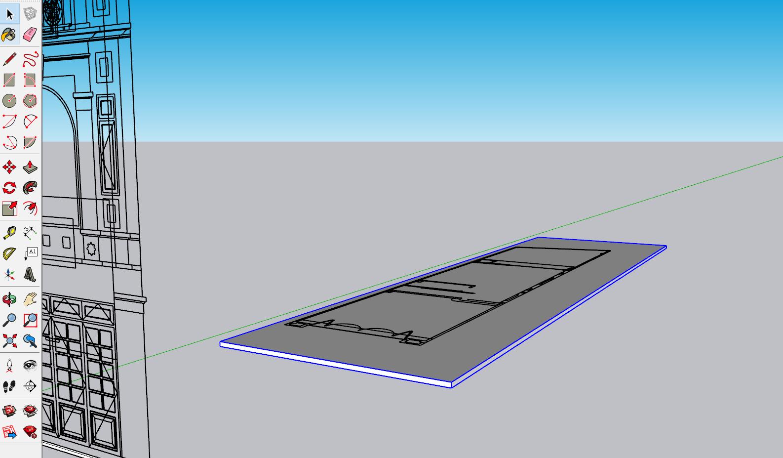 9 bước dựng hình SketchUp từ file AutoCAD