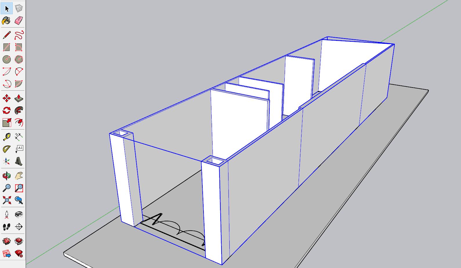 Dựng hình SketchUp từ file AutoCAD