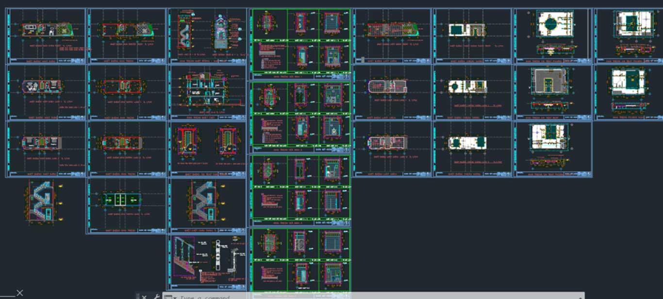 File AutoCAD kiến trúc đường phố