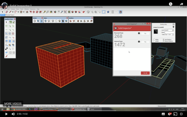 Phần mềm Solid Inspector - Plugin for SketchUp