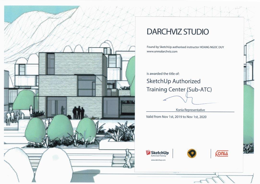 Trung Tâm Đào Tạo SketchUp Darchviz Studio