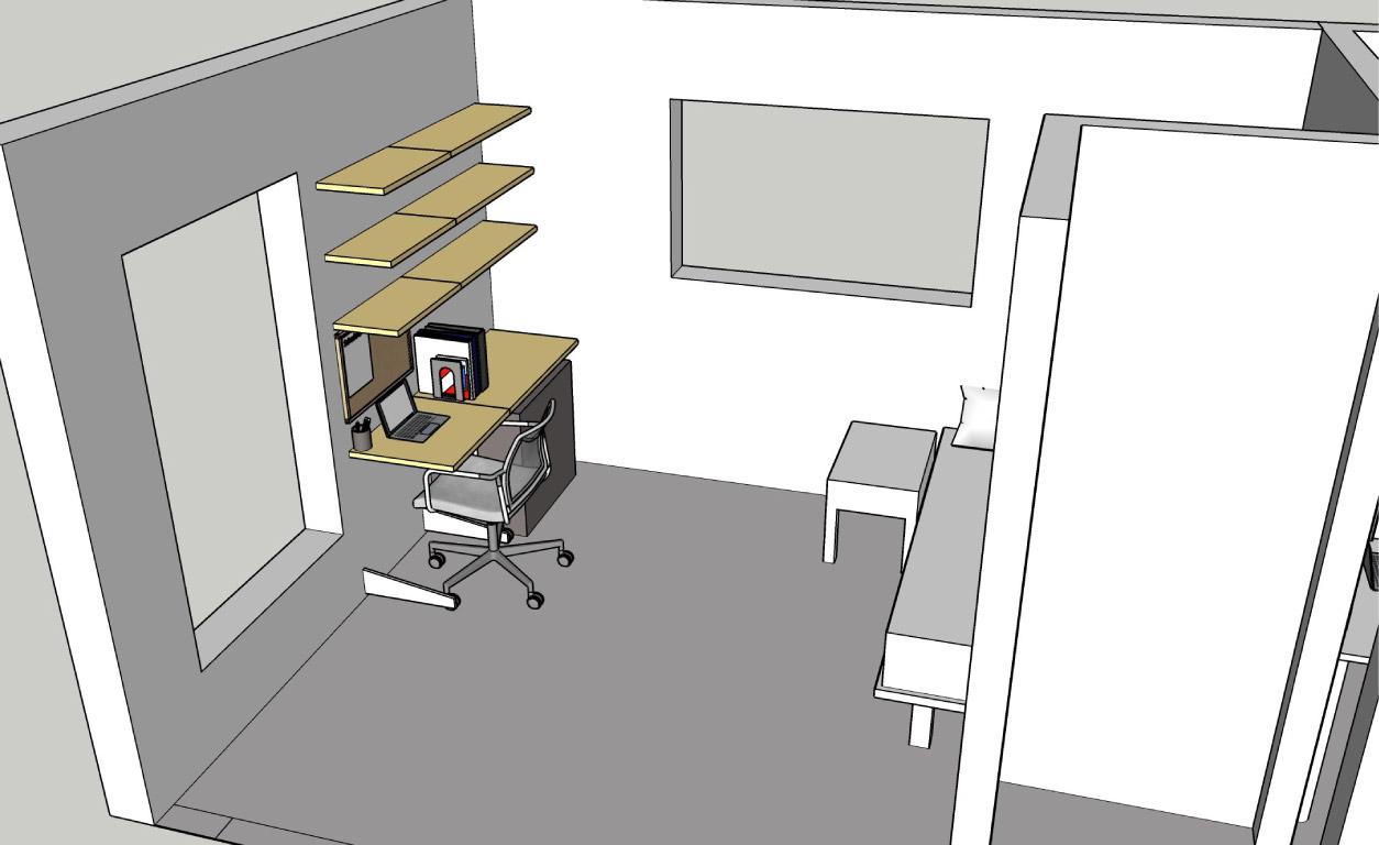 Phòng ngủ thành không gian học tập