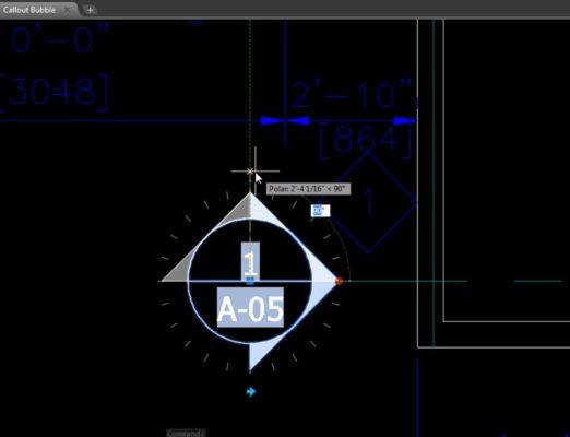 Tính năng dynamic blocks AutoCAD
