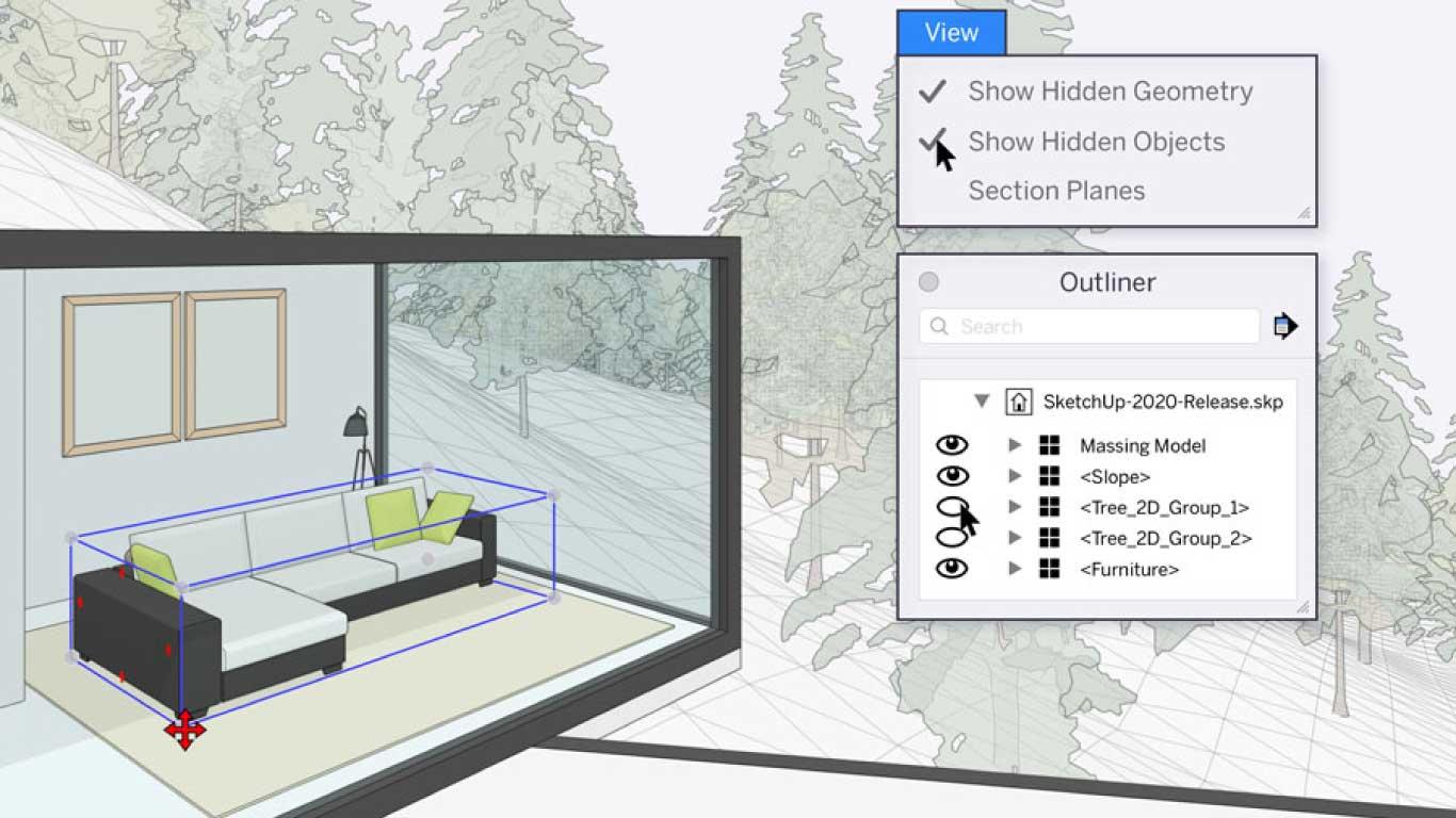 Sketchup 2020 3D Space