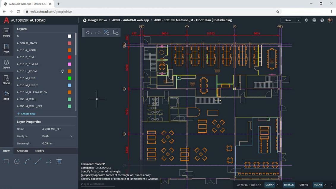 AutoCAD web app 2