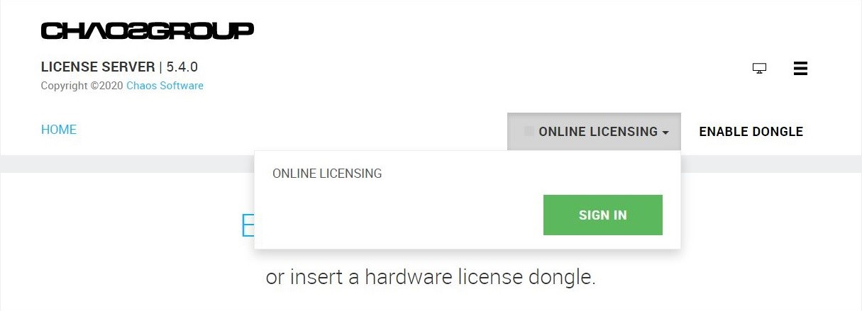Chuyển đổi Dongle license V-Ray