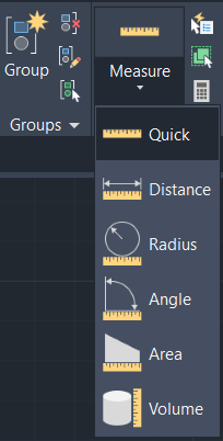 Quick measure tool autocad
