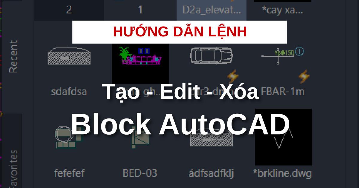 Lenh Block AutoCAD