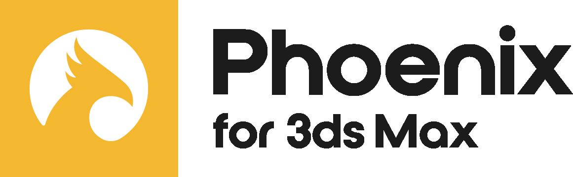 Phoenix 3dsMax Logo Colour Black RGB