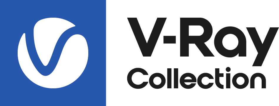 V Ray Collection Logo Colour Black RGB