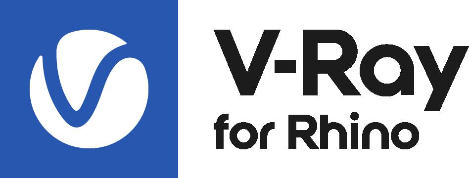 V Ray Rhino Logo Colour Black RGB