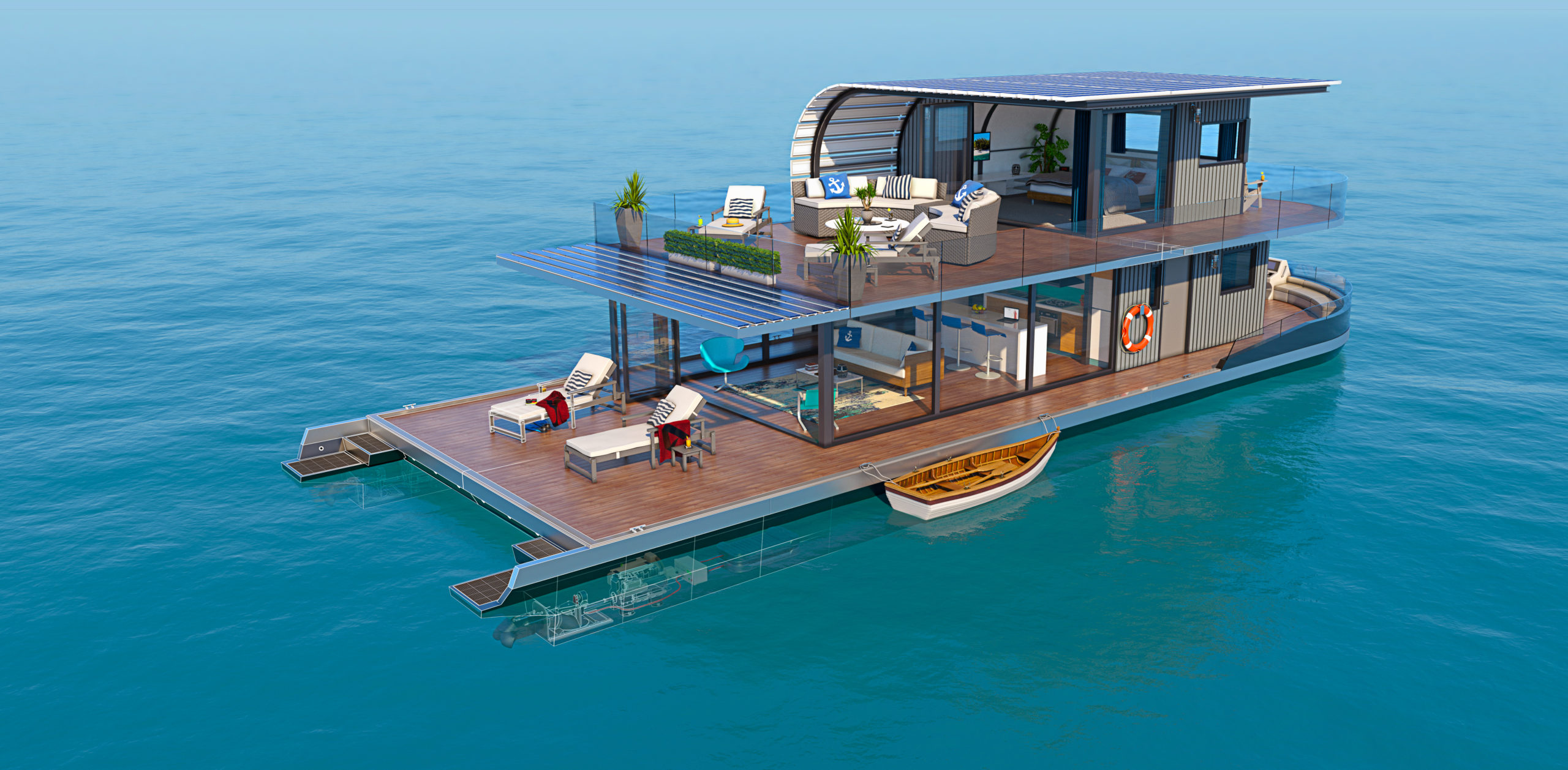 AutoCAD2022 Houseboat Stern scaled